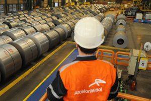 Visite presse ArcelorMittal Usibor. Florange, FRANCE -13/02/2013